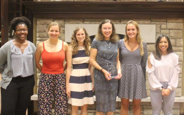 Dr. Bronner with four of our undergraduate Ribble awardees