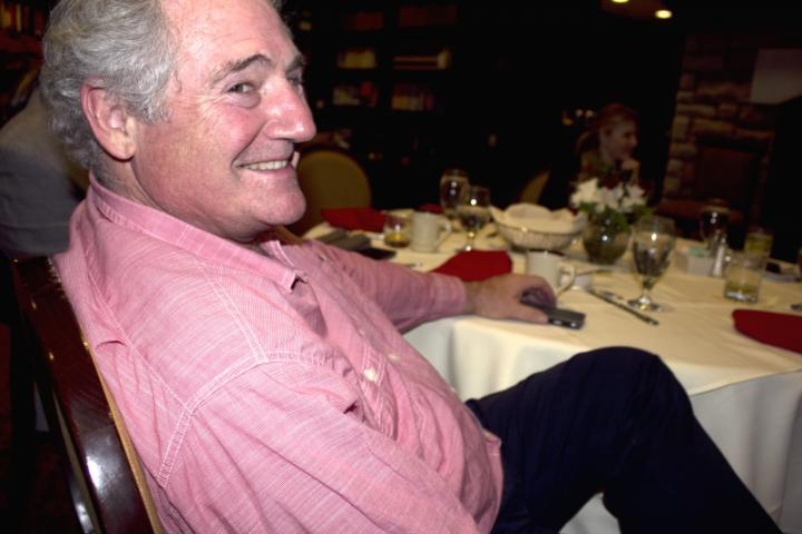 Dr. Cassone relaxing during dinner