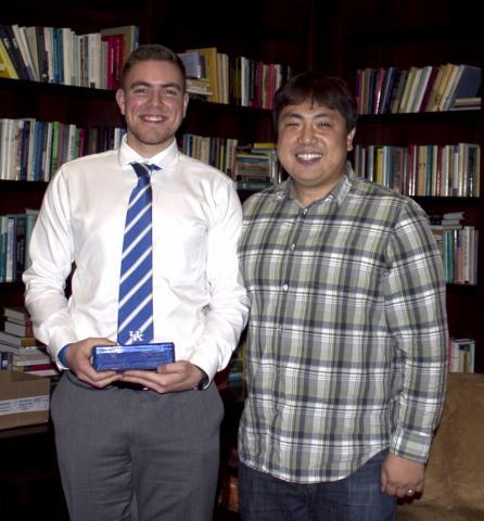 Chanung Wang, of O'Hara lab, with Ribble student