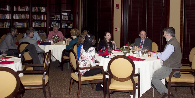 Ribble awardees at dinner