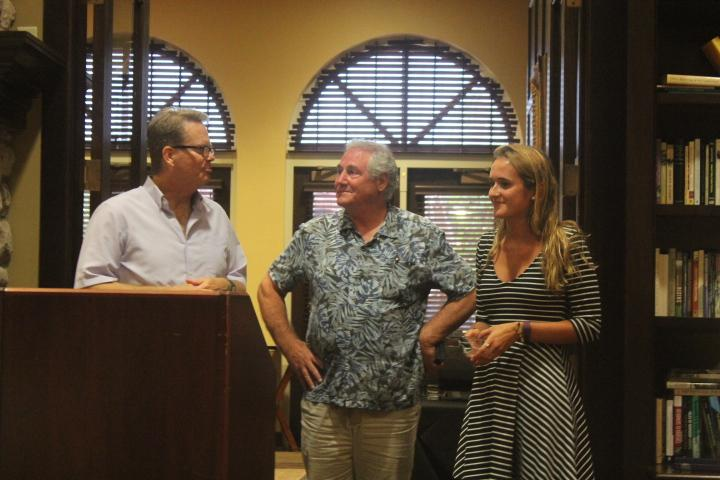Katie Breetz with her faculty mentor, Dr. Doug Harrison, and Dr. Cassone