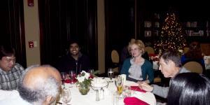 Ribble awardee Eashwar at dinner